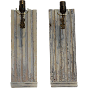Architectural Panel Wall Sconces, Pair