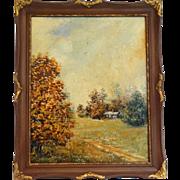 Plein Air Autumnal Oil Painting
