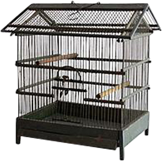 Early French Bird Cage, Wood