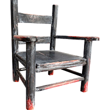 Early Americana American Wood Child's Chair Original Paint Folk Art