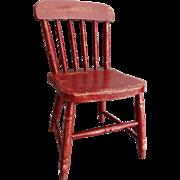 Early American Americana Child's Chair Original Paint Folk Art