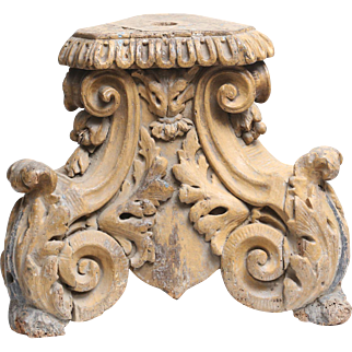 18th-Century Italian Corinthian Column Element