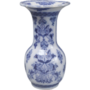 Large Continental Delft Vase, Blue & White Chinoiserie