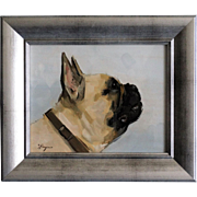 French Bulldog Portrait Oil on Canvas