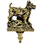 English Brass Terrier Dog Door Knocker