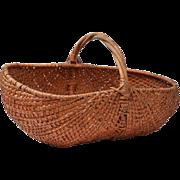 Fine Large Woven American Buttocks Basket