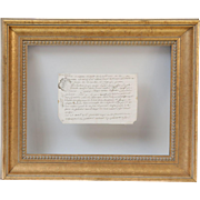 18th-Century Framed French Document