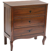Neoclassical Italian Walnut Commode Chest