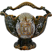 Early French Majolica Jardiniere Basket