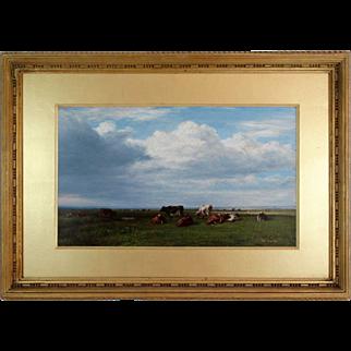 Antique Pastoral Landscape with Cattle, William Luker