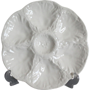 French Gien White Majolica Plates - 3 Available