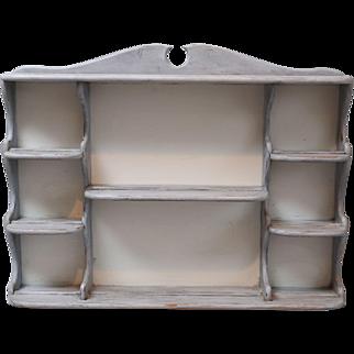Swedish Style Painted Plate Rack