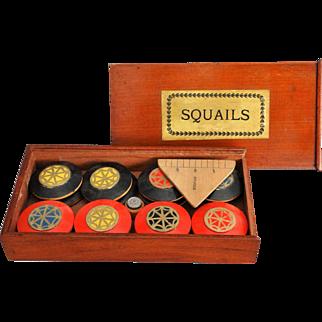 19th-Century English Squails Game, Rare