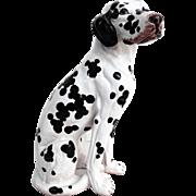 """Mid Century Italian Dalmatian Dog, 19"""""""