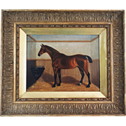Portrait of A Horse, Oil on Panel, 19th-Century