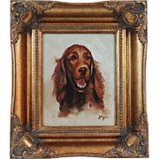 Spaniel Sporting Dog Study Oil on Canvas