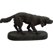Parisian Hunting Dog Sculpture Statue