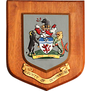 County of Devonshire Crested Wall Plaque, England