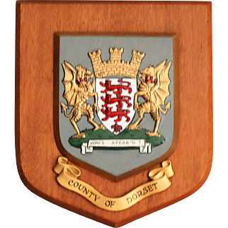 County of Dorset Crested Wall Plaque, England