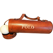 Leather Polo Ball Gear Bag - Red Tag Sale Item