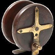 Antique Star Back Walnut Fishing Reel