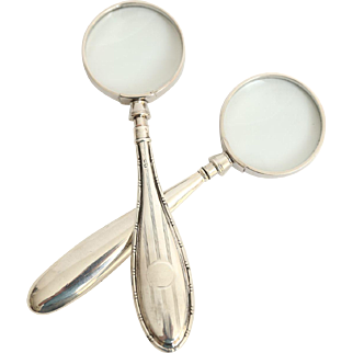 Sterling Silver Magnifying Glasses, Set of 2