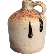 Antique Stoneware Jug, Orange Peel, Turkey Droppings, Salt Glaze