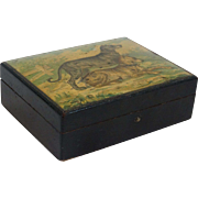 Papier Mache Box with Dogs