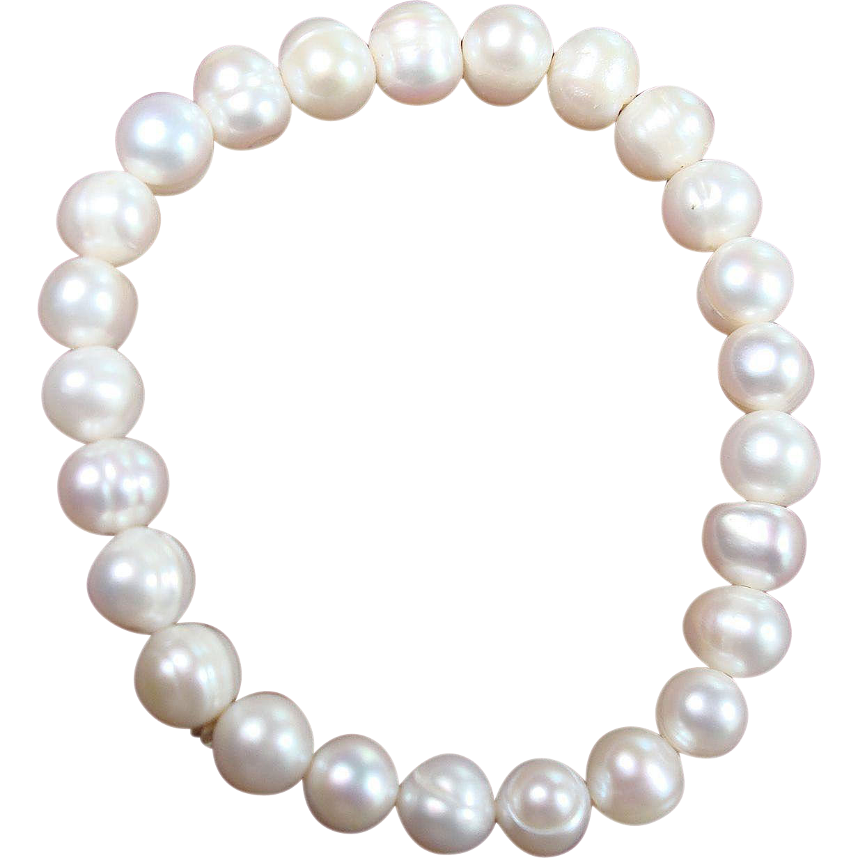 6 quot freshwater cultured pearl stretch bracelet sold on ruby
