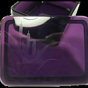 Beautiful Amethyst Glass Jewelry Box