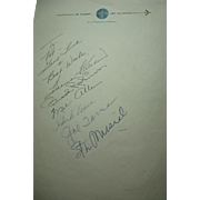 Stan Musial-Hank Aaron-Harmon Killebrew-Brooks Robinson Plus More Autographs
