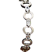 Vintage sterling silver bracelet with cz