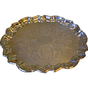 Vintage English silver plated large tray