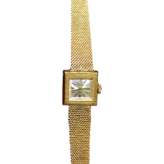 Vintage GRUEN ladies watch gold plated 10K