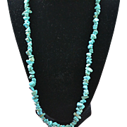 Vintage handmade turquoise necklace
