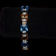 Vintage sterling silver topaz bracelet