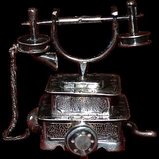 Vintage sterling silver decorative telephone