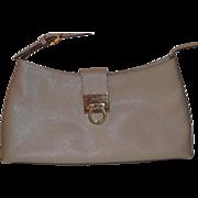 Salvatore Ferragamo beige handbag