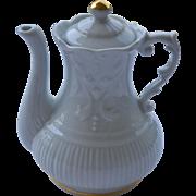 Porcelain tea pot pate de Limoges hand decorated