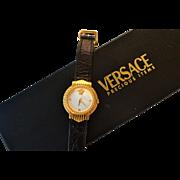 GIANNI VERSACE gold plated wrist watch