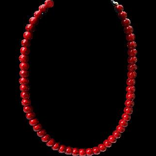 Vintage coral necklace handmade