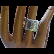 Vintage hammered silver ring