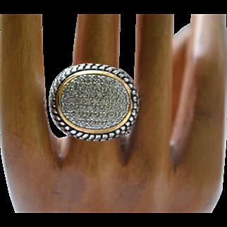 Vintage sterling silver zirconia ring
