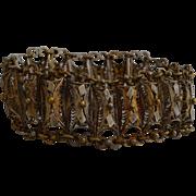 Late 19th century metallic filigree bracelet