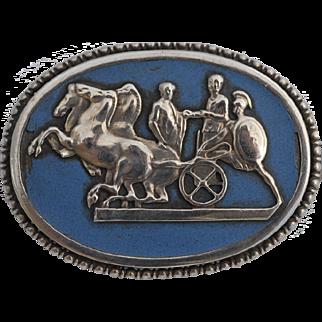 Theodor Fahrner Art nouveau Silver Brooch Enamel Antique