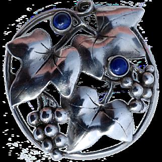 Theodor Fahrner Art Nouvea Silver Floral Brooch