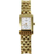 Vintage 18k Yellow Gold Logines Watch