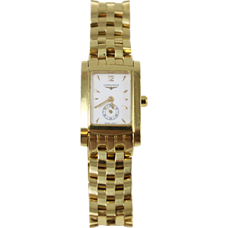 Vintage 18k Yellow Gold Logines Watch