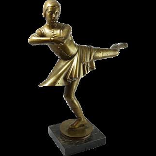 Felix Kupsch 1883-1969 German Art Deco Ice Skater
