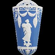 Vintage Wedgwood Jasperware Decorative Wall Pocket in Blue